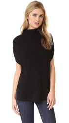 Vince Sleeveless Turtleneck With Panel Sides Black