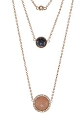 Fossil Fashion Necklace Rose Goldcoloured