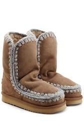 Mou Eskimo Short Sheepskin Boots Brown