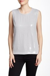 Laundry By Shelli Segal Sequin Tank Gray