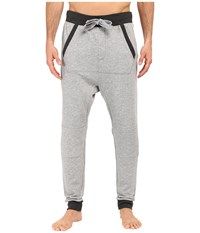 2Xist Active Core Terry Drop Inseam Jogger Pants Light Grey Heather Charcoal Heather Trim Men's Casual Pants Gray