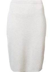 Eileen Fisher Knitted Pencil Skirt Nude Neutrals