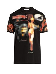 Givenchy Heavy Metal Print Cotton Pique Polo Shirt Black Multi