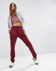Asos Basic Joggers With Tie Berry Multi