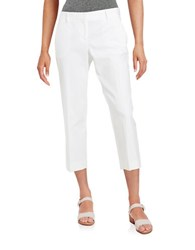 Dkny Cotton Capri Pants White