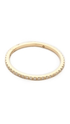 Ef Collection Diamond Eternity Stack Ring Yellow Gold Clear
