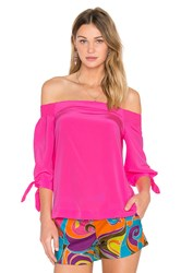 Trina Turk Kandis Off Shoulder Top Pink