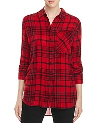 Aqua Jordan Plaid Button Down Shirt Black Red