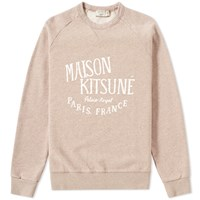 Maison Kitsune Palais Royal Crew Sweat Neutrals