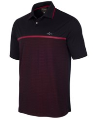 Greg Norman For Tasso Elba Men's Pieced Jacquard Polo Only At Macy's Deep Black