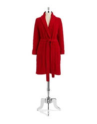 Lord And Taylor Cableknit Robe Jester Red