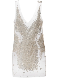 Amen Sheer Sequin Embellished Dress