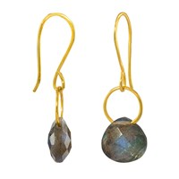 Juvi Boho Tiny Dancer Earrings With Labradorite Grey