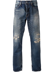 Fdmtl Distressed Jeans Blue