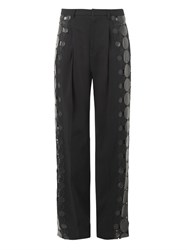 Christopher Kane Leather Molecule Tailored Trousers