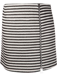 Bouchra Jarrar Striped Skirt Black