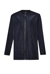 French Connection Long Line Bomber Jacket Blue