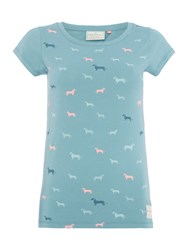 Brakeburn Sausage Dog T Shirt Teal