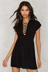 Nasty Gal Lace Locations Tee Dress