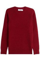 Closed Wool Pullover Red