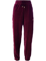 Adidas Originals Archive Velour Cuffed Track Pants Pink And Purple