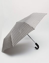 Fulton Umbrella In Grey Check Grey