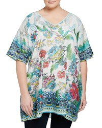 Johnny Was Plus Nova Floral Dolman Sleeve Tunic Multi