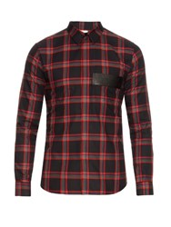 Givenchy Tartan Cotton Shirt Red Multi
