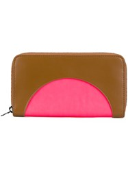Kenzo 'Kurved' Continental Wallet Brown