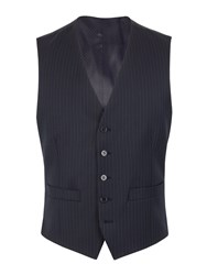Pierre Cardin Stripe Regular Fit Waistcoat Navy