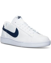 Nike Men's Tennis Classic Cs Casual Sneakers From Finish Line White Midnight Navy