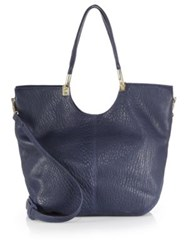 Elizabeth And James Cynnie Convertible Tote Navy Goldtone Hardware Koala Goldtone Hardware Bla