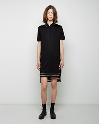 Public School Polo Shirt Dress Black