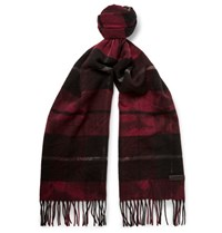 Lanvin Checked Wool Scarf Claret