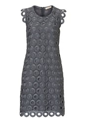 Vera Mont Crochet Dress Charcoal