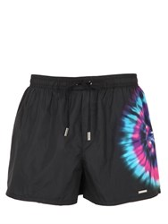 Dsquared Tie Dyed Printed Nylon Swim Shorts