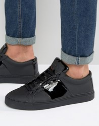 Religion Flander Leather Trainers Black