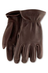 Red Wing Shoes Buckskin Leather Gloves Brown