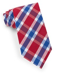 Lord And Taylor Lex Plaid Tie Red