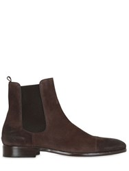 Trussardi Brushed Suede Chelsea Boots