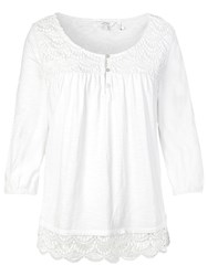 Fat Face Otley Lace Top White
