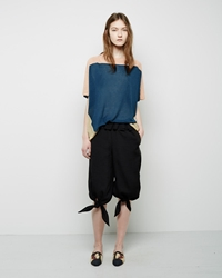 Tsumori Chisato Knotted Cropped Pant Black