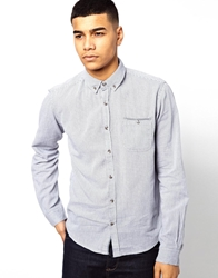 Solid Shirt With Pocket Trim Blue