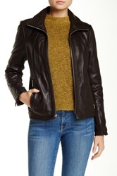 Kenneth Cole Genuine Leather Jacket Brown