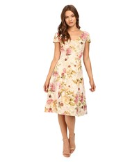 Adrianna Papell Matelasse Fit Flare Cocktail Dress English Rose Women's Dress Pink