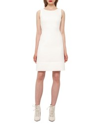 Akris Wool Crepe Double Hem Dress Moonstone Ivory