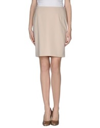 Moschino Knee Length Skirts Beige