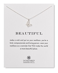 Dogeared Butterfly Pendant Necklace 18 Silver