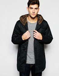 United Colors Of Benetton Parka With Faux Fur Lining Charcoal