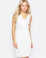B.Young Pleated Pencil Dress Off White